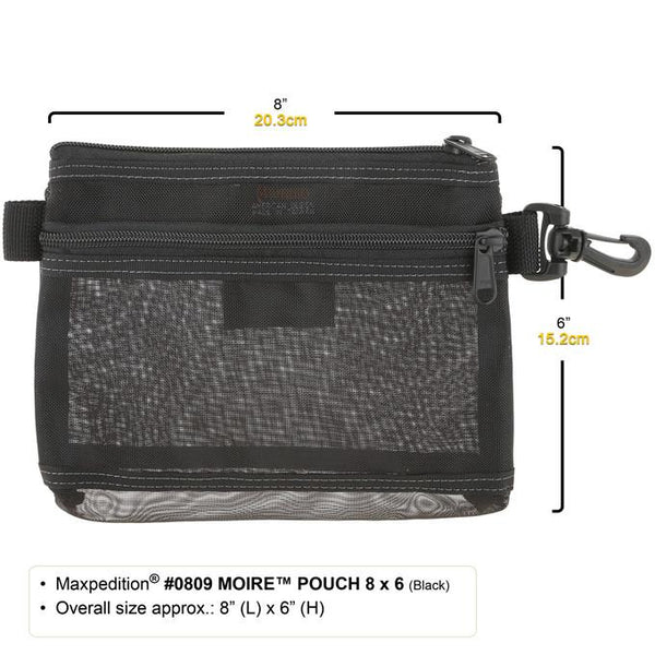 "MOIRE POUCH 8"" x 6"" - MAXPEDITION, Military, CCW, EDC, Everyday Carry, Outdoors, Nature, Hiking, Camping, Police Officer, EMT, Firefighter, Bushcraft, Gear, Travel"