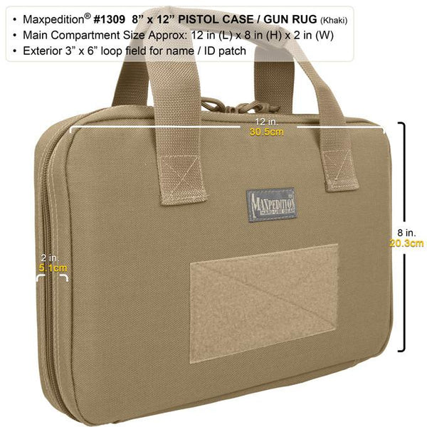 "Maxpedition 8"" x 12"" Pistol Case/ Gun rug, EDC, Hiking, Camping, Tactical, Outdoor, CCW essentials"