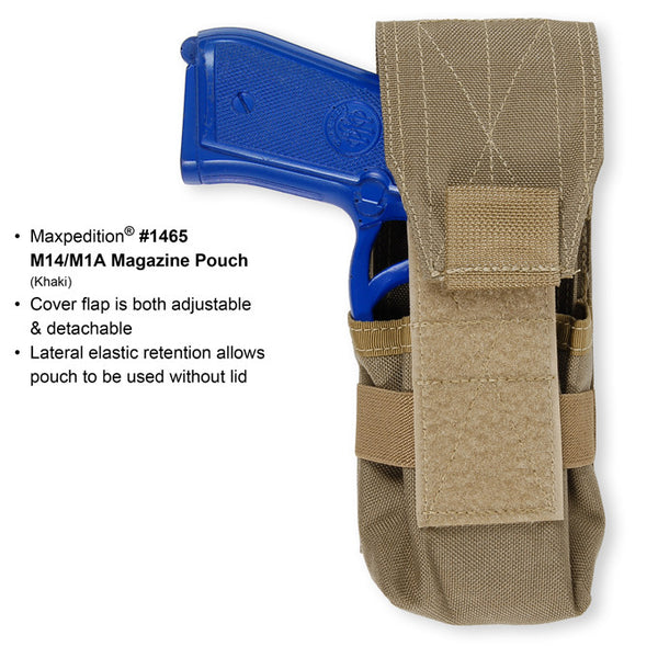M14/M1A MAGAZINE POUCH - Maxpedition, Military, CCW, EDC, Tactical, Everyday Carry, Outdoors, Nature, Hiking, Camping, Police Officer, EMT, Firefighter, Bushcraft, Gear.