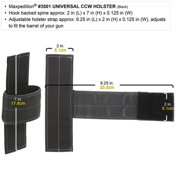 Universal CCW Holder - Maxpedition, CCW, Hook, Magazine Holder,