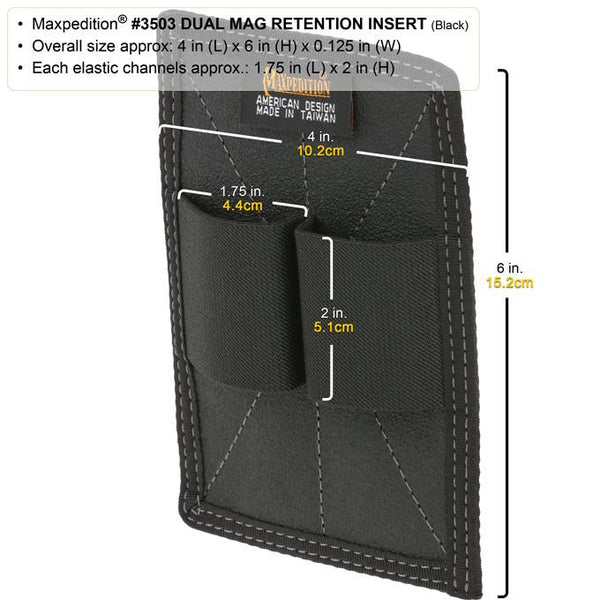 DUAL MAG RETENTION INSERT - MAXPEDITION, Tactical, CCW gear, Magazine, Guns, Range Gear,