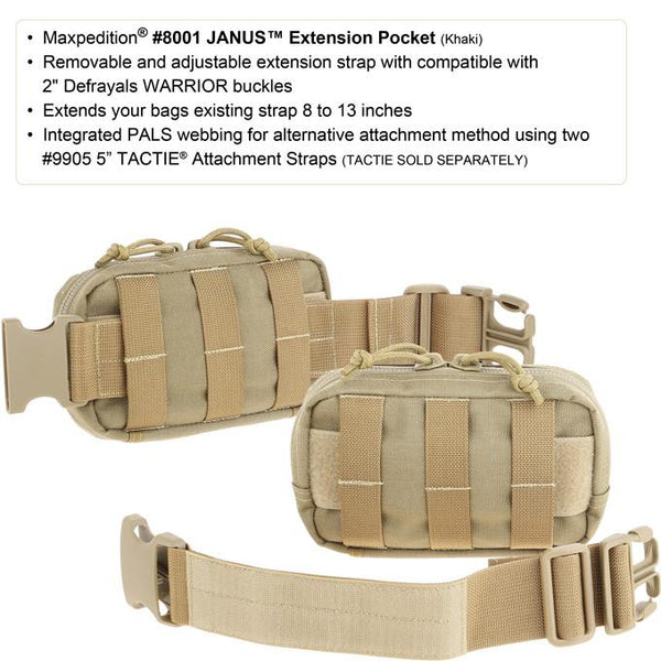 Janus Extension Pocket- Maxpedition, Molle, PALS, EDC, Everyday Carry, Travel, Tactical, Military Gear, Adjustable, Customizable, PouchMaxpedition, Military, CCW, EDC, Tactical, Everyday Carry, Outdoors, Nature, Hiking, Camping, Police Officer, EMT, Firefighter, Bushcraft, Gear.