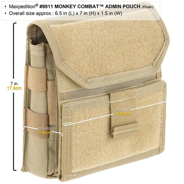 Monkey Combat Admin Pouch-Maxpedition, CCW, Attachable, Molle, PALS, ATLAS compatible,