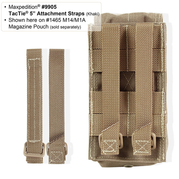 "5""TacTie (Pack of 4) - Maxpedition, Molle, PALS, ATLAS compatible, Attachment, Tool-free"