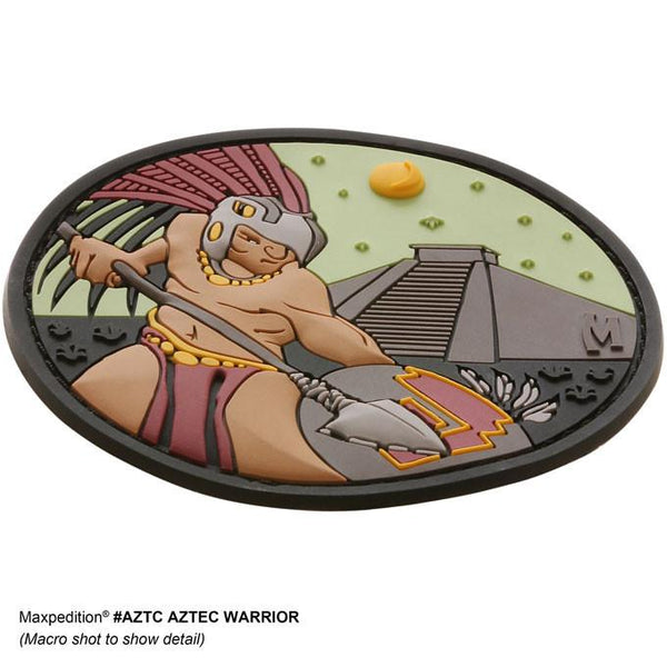 AZTEC WARRIOR PATCH - MAXPEDITION, Patches, Military, CCW, EDC, Tactical, Everyday Carry, Outdoors, Nature, Hiking, Camping, Bushcraft, Gear, Police Gear, Law Enforcement