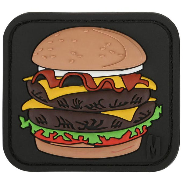BURGER PATCH - MAXPEDITION, Patches, Military, CCW, EDC, Tactical, Everyday Carry, Outdoors, Nature, Hiking, Camping, Bushcraft, Gear, Police Gear, Law Enforcement