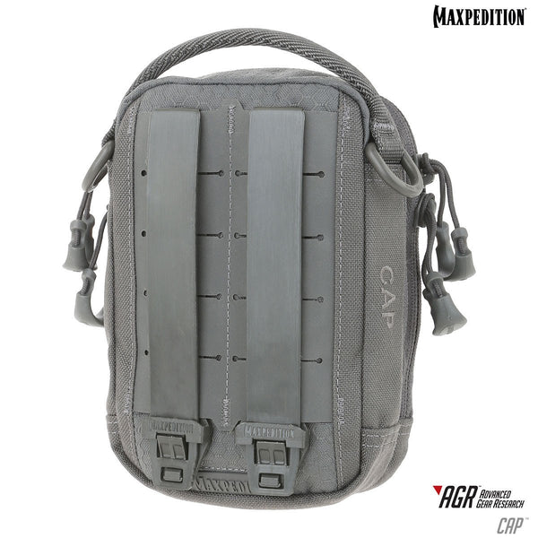 Maxpedition CAPGRY Gray Cap Compact Admin Pouch Low Profile Organizer Bag