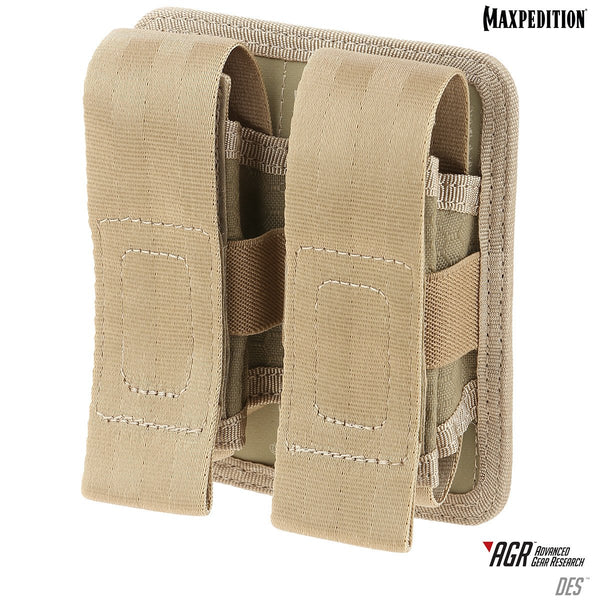 DES DOUBLE SHEATH POUCH - MAXPEDITION, Maxpedition, Military, CCW, EDC, Tactical, Everyday Carry, Outdoors, Nature, Hiking, Camping, Police Officer, EMT, Firefighter, Bushcraft, Gear.