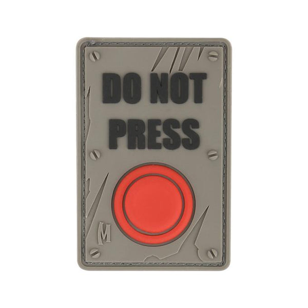 DO NOT PRESS PATCH - MAXPEDITION, Patches, Military, CCW, EDC, Tactical, Everyday Carry, Outdoors, Nature, Hiking, Camping, Bushcraft, Gear, Police Gear, Law Enforcement