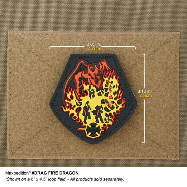 FIRE DRAGON PATCH - MAXPEDITION, Patches, Military, CCW, EDC, Tactical, Everyday Carry, Outdoors, Nature, Hiking, Camping, Bushcraft, Gear, Police Gear, Law Enforcement
