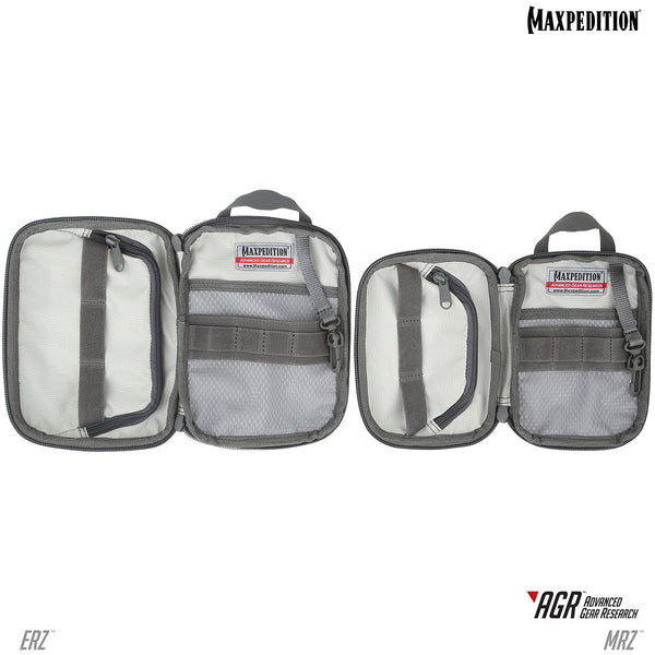 The ERZ and MRZ from Maxpedition have a grayscale interior with fray resistant Gossamer mesh pockets.