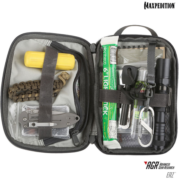 ERZ Everyday Organizer Maxpedition, Military, CCW, EDC, Tactical, Everyday Carry, Outdoors, Nature, Hiking, Camping, Police Officer, EMT, Firefighter, Bushcraft, Gear.