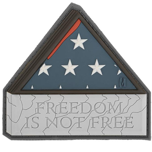 FREEDOM IS NOT FREE PATCH - MAXPEDITION, Patches, Military, CCW, EDC, Tactical, Everyday Carry, Outdoors, Nature, Hiking, Camping, Bushcraft, Gear, Police Gear, Law Enforcement