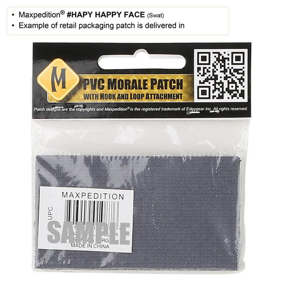 HAPPY FACE PATCH - MAXPEDITION, Patches, Military, CCW, EDC, Tactical, Everyday Carry, Outdoors, Nature, Hiking, Camping, Bushcraft, Gear, Police Gear, Law Enforcement