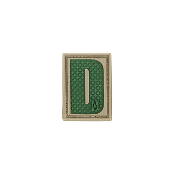 LETTER D PATCH - MAXPEDITION, Patches, Military, CCW, EDC, Tactical, Everyday Carry, Outdoors, Nature, Hiking, Camping, Bushcraft, Gear, Police Gear, Law Enforcement