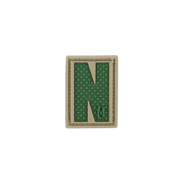 LETTER N PATCH - MAXPEDITION, Patches, Military, CCW, EDC, Tactical, Everyday Carry, Outdoors, Nature, Hiking, Camping, Bushcraft, Gear, Police Gear, Law Enforcement