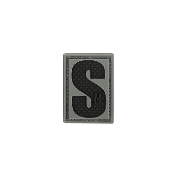 LETTER S PATCH - MAXPEDITION, Patches, Military, CCW, EDC, Tactical, Everyday Carry, Outdoors, Nature, Hiking, Camping, Bushcraft, Gear, Police Gear, Law Enforcement