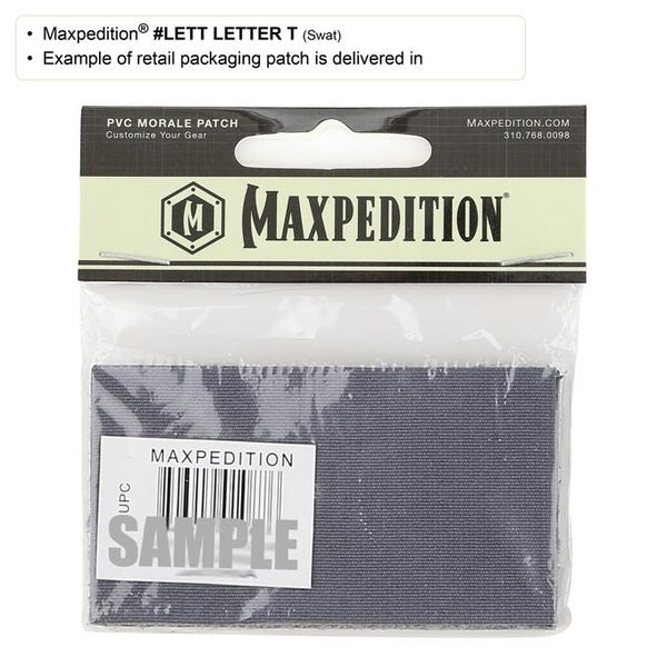 LETTER T PATCH - MAXPEDITION, Patches, Military, CCW, EDC, Tactical, Everyday Carry, Outdoors, Nature, Hiking, Camping, Bushcraft, Gear, Police Gear, Law Enforcement