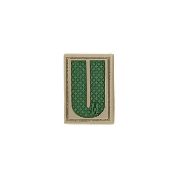 LETTER U PATCH - MAXPEDITION, Patches, Military, CCW, EDC, Tactical, Everyday Carry, Outdoors, Nature, Hiking, Camping, Bushcraft, Gear, Police Gear, Law Enforcement