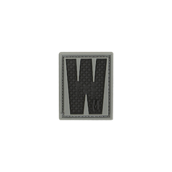 LETTER W PATCH - MAXPEDITION, Patches, Military, CCW, EDC, Tactical, Everyday Carry, Outdoors, Nature, Hiking, Camping, Bushcraft, Gear, Police Gear, Law Enforcement
