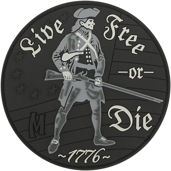 LIVE FREE OR DIE PATCH - MAXPEDITION, Patches, Military, CCW, EDC, Tactical, Everyday Carry, Outdoors, Nature, Hiking, Camping, Bushcraft, Gear, Police Gear, Law Enforcement