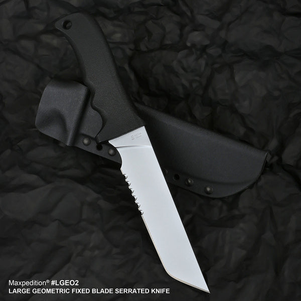 LARGE GEOMETRIC (LGEO2) FIXED BLADE SERRATED KNIFE - MAXPEDITION