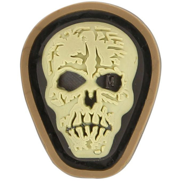 HI RELIEF SKULL MICROPATCH - MAXPEDITION, Patches, Military, CCW, EDC, Tactical, Everyday Carry, Outdoors, Nature, Hiking, Camping, Bushcraft, Gear, Police Gear, Law Enforcement