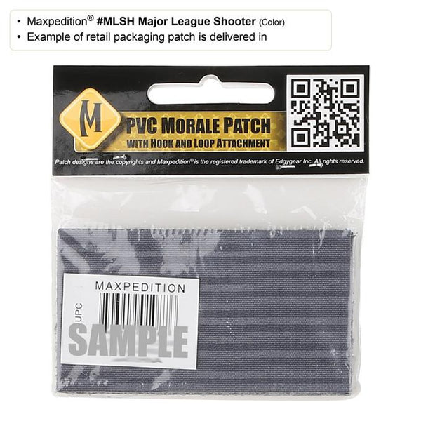 MAJOR LEAGUE SHOOTER PATCH - MAXPEDITION, Patches, Military, CCW, EDC, Tactical, Everyday Carry, Outdoors, Nature, Hiking, Camping, Bushcraft, Gear, Police Gear, Law Enforcement