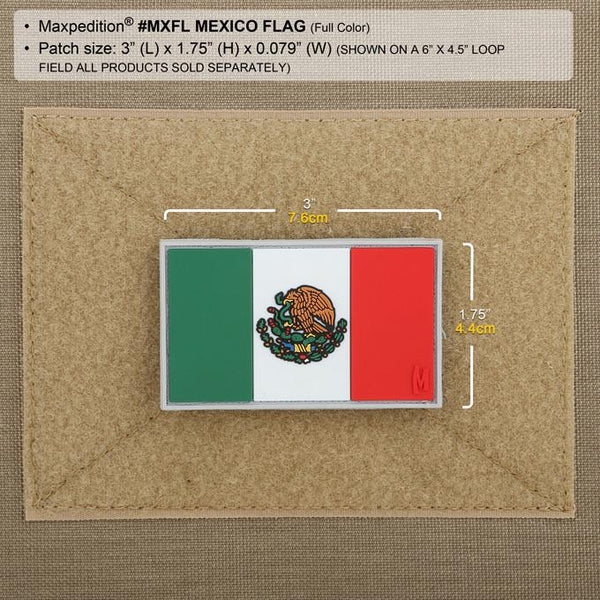 MEXICO FLAG PATCH - MAXPEDITION, Patches, Military, CCW, EDC, Tactical, Everyday Carry, Outdoors, Nature, Hiking, Camping, Bushcraft, Gear, Police Gear, Law Enforcement