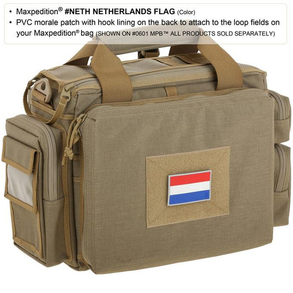 NETHERLANDS FLAG PATCH - MAXPEDITION, Patches, Military, CCW, EDC, Tactical, Everyday Carry, Outdoors, Nature, Hiking, Camping, Bushcraft, Gear, Police Gear, Law Enforcement
