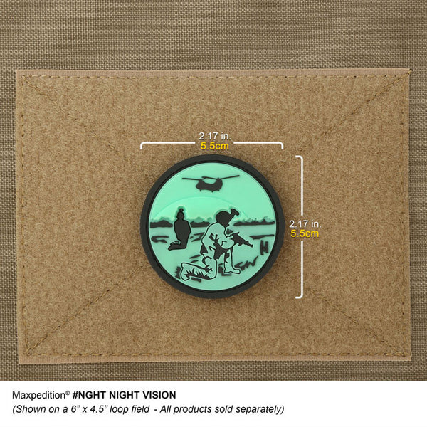 NIGHT VISION PATCH - MAXPEDITION, Patches, Military, CCW, EDC, Tactical, Everyday Carry, Outdoors, Nature, Hiking, Camping, Bushcraft, Gear, Police Gear, Law Enforcement