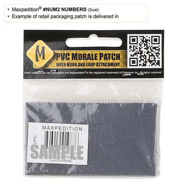 NUMBER 2 PATCH - MAXPEDITION, Patches, Military, CCW, EDC, Tactical, Everyday Carry, Outdoors, Nature, Hiking, Camping, Bushcraft, Gear, Police Gear, Law Enforcement
