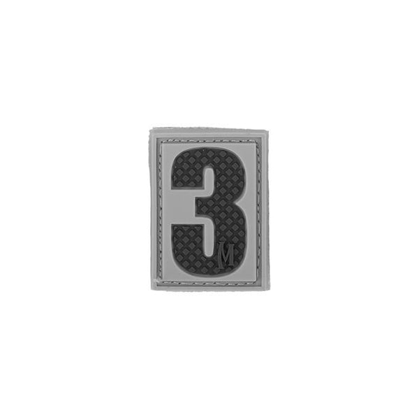 NUMBER 3 PATCH - MAXPEDITION, Patches, Military, CCW, EDC, Tactical, Everyday Carry, Outdoors, Nature, Hiking, Camping, Bushcraft, Gear, Police Gear, Law Enforcement