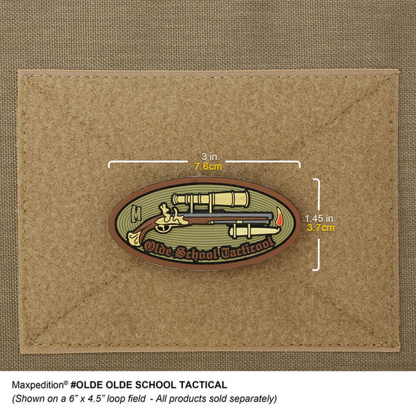 OLDE SCHOOL TACTICOOL PATCH - MAXPEDITION, Patches, Military, CCW, EDC, Tactical, Everyday Carry, Outdoors, Nature, Hiking, Camping, Bushcraft, Gear, Police Gear, Law Enforcement
