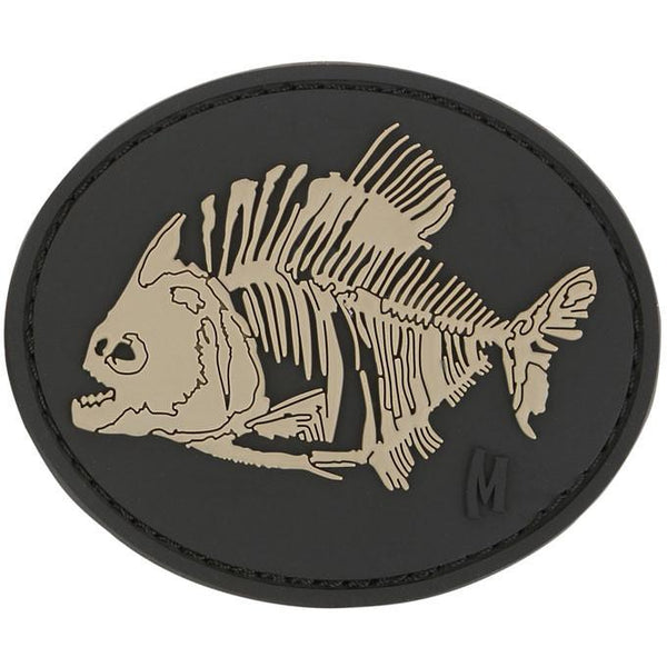 PIRANHA BONES PATCH - MAXPEDITION, Patches, Military, CCW, EDC, Tactical, Everyday Carry, Outdoors, Nature, Hiking, Camping, Bushcraft, Gear, Police Gear, Law Enforcement