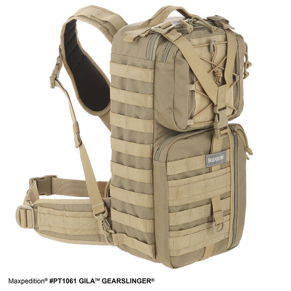 GILA GEARSLINGER (SMALL) - MAXPEDITION, Backpack, Hiking, Adventure, Camping, EDC, Outdoors, Everyday Carry, CCW, College, Work, Maxpedition, Military, CCW, EDC, Tactical, Everyday Carry, Outdoors, Camping, Police Officer, EMT, Firefighter, Bushcraft, Gear.