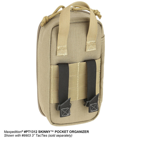 Skinny Pocket Organizer - MAXPEDITION, Tactical Gear, Pouch, Essential, First Aid Kit, Military, CCW, EDC, Everyday Carry, Outdoors, Nature, Hiking, Camping, Police Officer, EMT, Firefighter, Bushcraft, Gear, Travel.