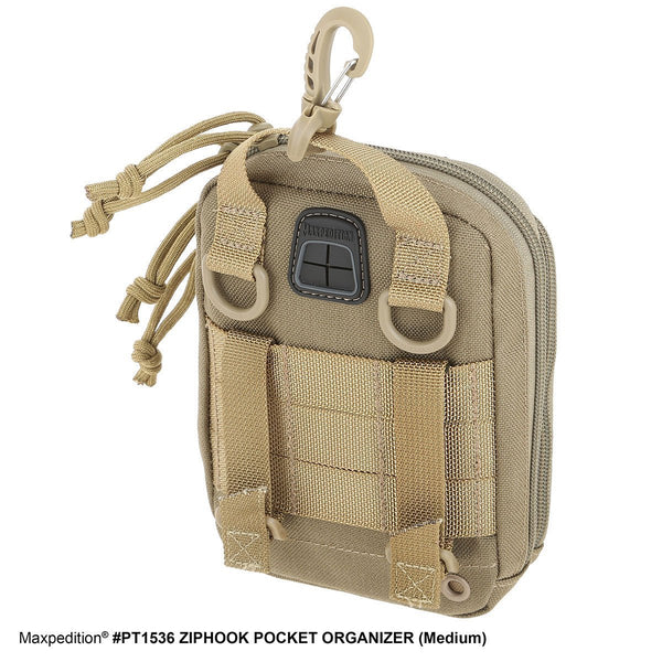 ZIPHOOK POCKET ORGANIZER (MEDIUM) - MAXPEDITION, Everyday Carry, EDC, Backpack, Tactical Gear, Law Enforcement, Police Gear, EMT, Tactical, Hiking, Camping, Outdoor, Essentials, Guns, Travel, Adventure, range.