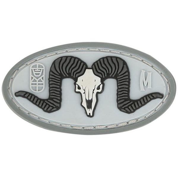 RAM SKULL PATCH - MAXPEDITION, Patches, Military, CCW, EDC, Tactical, Everyday Carry, Outdoors, Nature, Hiking, Camping, Bushcraft, Gear, Police Gear, Law Enforcement