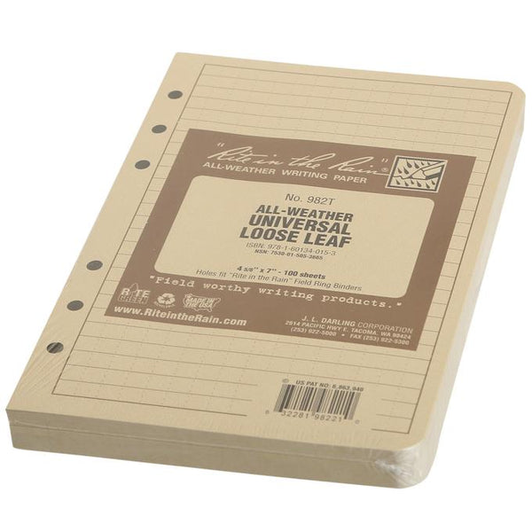 Rite in the Rain Universal Loose Leaf