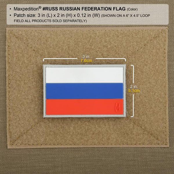RUSSIAN FEDERATION FLAG PATCH - MAXPEDITION, Patches, Military, CCW, EDC, Tactical, Everyday Carry, Outdoors, Nature, Hiking, Camping, Bushcraft, Gear, Police Gear, Law Enforcement