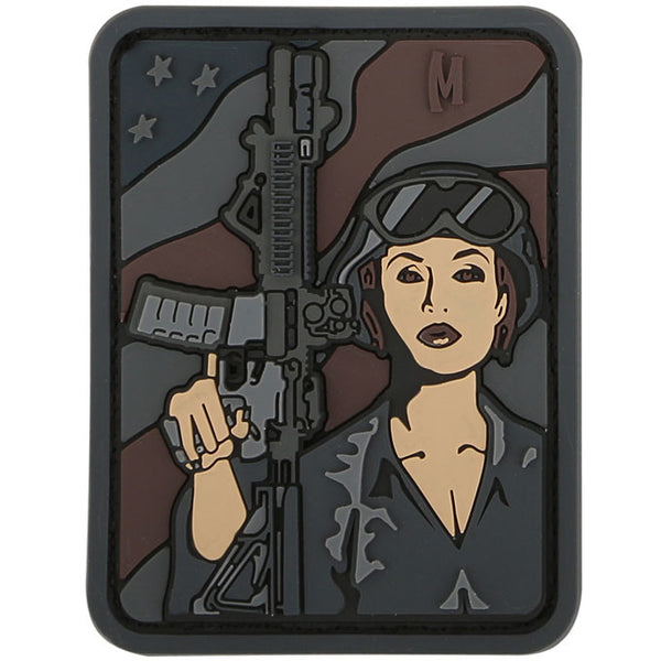 SOLDIER GIRL PATCH - MAXPEDITION, Patches, Military, CCW, EDC, Tactical, Everyday Carry, Outdoors, Nature, Hiking, Camping, Bushcraft, Gear, Police Gear, Law Enforcement