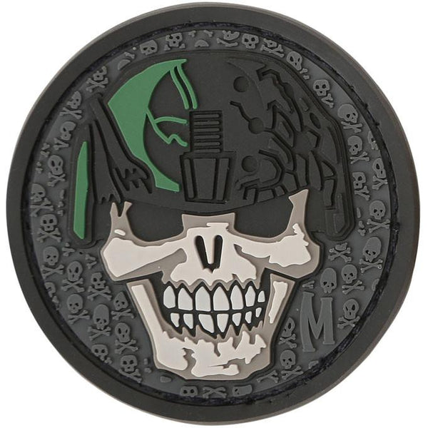 SOLDIER SKULL PATCH - MAXPEDITION, Patches, Military, CCW, EDC, Tactical, Everyday Carry, Outdoors, Nature, Hiking, Camping, Bushcraft, Gear, Police Gear, Law Enforcement