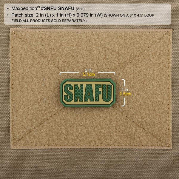 SNAFU PATCH - MAXPEDITION, Patches, Military, CCW, EDC, Tactical, Everyday Carry, Outdoors, Nature, Hiking, Camping, Bushcraft, Gear, Police Gear, Law Enforcement