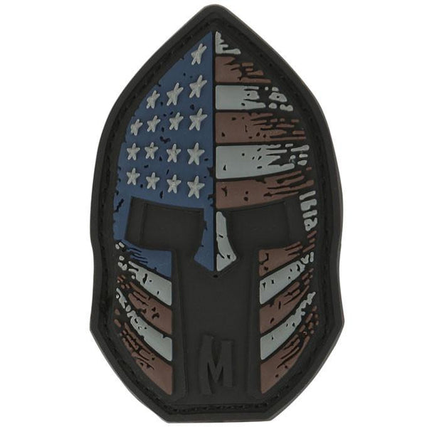Stars and Stripes Spartan Helmet Morale Patch