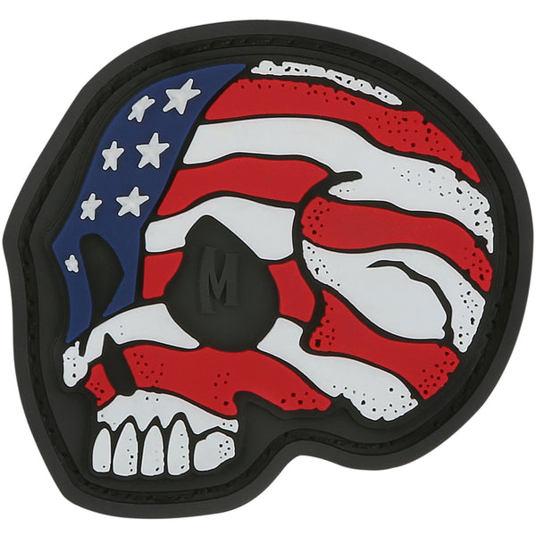 Stars and Stripes Skull Morale Patch