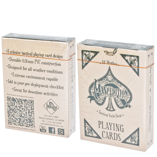 Tactical Field Deck All Weather Playing Cards - MAXPEDITION