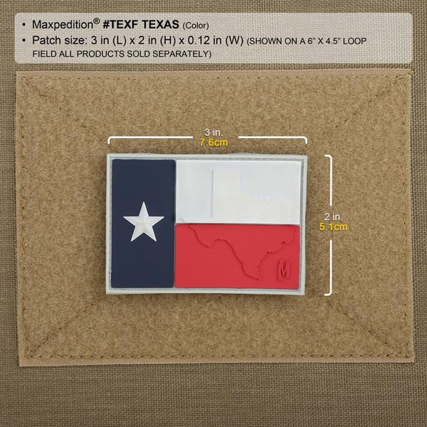 TEXAS FLAG PATCH - MAXPEDITION, Patches, Military, CCW, EDC, Tactical, Everyday Carry, Outdoors, Hiking, Camping, Bushcraft, Gear, Police Gear, Law Enforcement