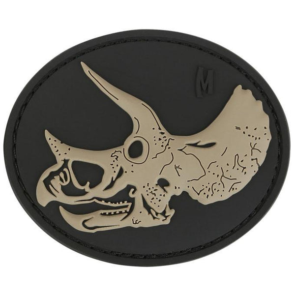 TRICERATOPS SKULL PATCH - MAXPEDITION, Patches, Military, CCW, EDC, Tactical, Everyday Carry, Outdoors, Hiking, Camping, Bushcraft, Gear, Police Gear, Law Enforcement