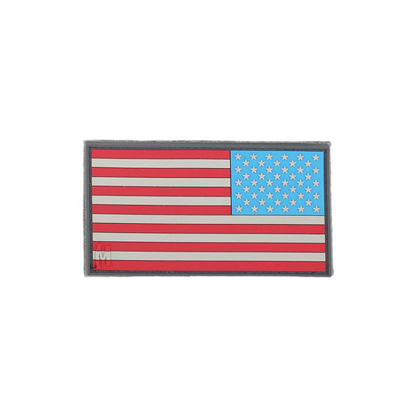 REVERSE USA FLAG PATCH (SMALL) - MAXPEDITION, Patches, Military, CCW, EDC, Tactical, Everyday Carry, Outdoors, Nature, Hiking, Camping, Bushcraft, Gear, Police Gear, Law Enforcement